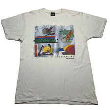 Vintage 80s Surfing Sunning Graphic Beach Single Stitch T Shirt XL Colorful Usa