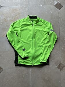 VTG Nike Dri Fit Neon Green Full Zip Reflective Running Jacket Size Large