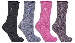 Heat Holders - Womens Thick Durable Winter Warm TOG Merino Wool Thermal Socks