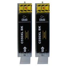 2 Replacements for Canon PGI-550XL HIGH YIELD large black printer ink cartridges