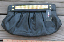 NWT ~ STYLE & CO Black Clutch w/ Gold Trim Evening Bag Purse MACYS ~ SHIPS FREE