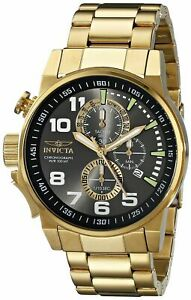 Invicta Men's 17416 I-Force 18K Gold Ion-Plated Stainless Steel Watch