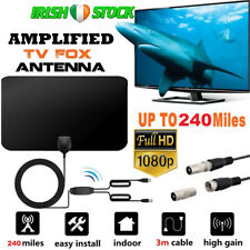 Amplified Indoor Digital HDTV TV Antenna Aerial 240 Mile Range Freeview Soarview