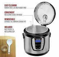 Chefman Electric Pressure Cooker 9-in-1 Programmable Multicooker 6 Qt