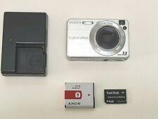 SONY CyberShot DSC-W120 7.2 Mega Pixels Digital Camera Silver w/ Battery, Card