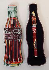 Coca Cola CONTOUR BOTTLE SHAPED Collectible TIN & PEN Gift Set by Pentech MINT