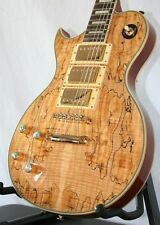 Acepro e-guitarra le Paul tipo * spalted Maple * caoba * 3 humbucker * zurdo