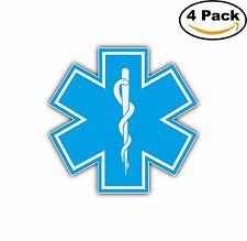Star of Life Ambulance Paramedic Decal Diecut Sticker 4 Stickers