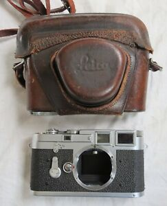 Leica Camera Body M3 Double Stroke As Is Vtg