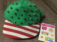 Claire's Exclusive Christmas Jingle Bell Hat Nwt Justice Stickers