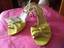 VALENTINO Garavani leather heels peep toe bow shoes slingback pumps Sz 36 ,5