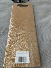 Papyrus cork/gold wine bag