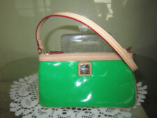Dooney and Bourke Green Patent Leather Wristlet Coin Purse Wallet