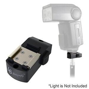 "Flash Hot Shoe Mount Adapter Bracket Button Lock with 1/4"" Female Thread Tripod"