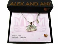 """Alex and Ani Queen Mom Necklace Expandable 32"""" Shiny Silver NWTBC"""