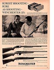 1960 WINCHESTER 22 RIFLE ~ ORIGINAL PRINT AD
