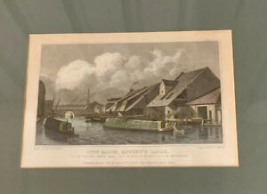 Original Hand-Coloured Engraving after Th H Shepherd City Basin, Regent's Canal