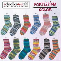 """100g Schöller + Stahl Fortissima 4-fach """" verschiedene Farben """" Sockenwolle"""