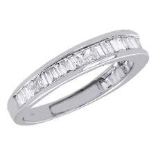 10K White Gold Baguette Diamond Wedding Band 2.65mm Anniversary Ring 0.50 Ct.