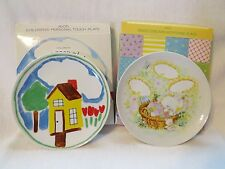 2 Vintage 1982 Avon Children'S Personal Touch & Sweet Dreams Plates Easter Bunny