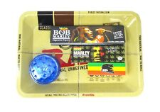 RAW Tray Set Bob Marley Rolling Papers Tips Rasta Roaches Grinder Kit