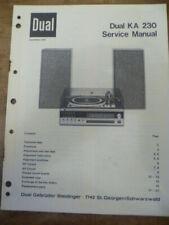 DUAL   KA 230 Hi-Fi System  Service Manual