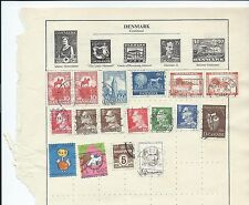 Denmark stamps. 2 pages of mainly used in mixed condition. (V050)