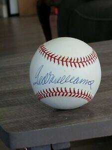 TED WILLIAMS AUTOGRAPHED BASEBALL DID NOT PASS PSA **READ DESCRIPTION**
