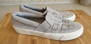 Mens Grey Superdry Slip On Shoes UK 7