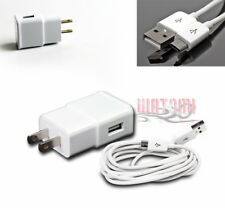 100 2A POWER ADAPTER+3' MICRO USB CABLE DATA CHARGER WHITE LUMIA 800 G2 OPTIMUS