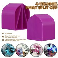 8oz Acrylic Pour Cup , 4 Channels Paint Pouring Split Cup Art Pour Supplies UK
