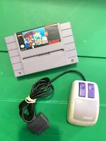 MARIO PAINT Super Nintendo SNES Game w/ Original Mouse ! - TESTED Working!