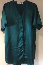 Satén Verde Victoria's Secret Vintage Top Camisa Lencería Camisón/Medio