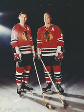 BOBBY HULL STAN MIKITA HOCKEY CHICAGO BLACKHAWKS 8x10 PHOTO from the NEGATIVE!