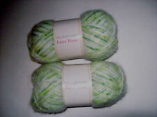 2 SKEINS VILLAGE YARN FAIRY FLOSS - GOOSEBERRY (MULTI COLOR)