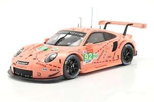 Porsche 991 (911) RSR #92 Christensen LeMans pink Pig 2018 - 1:18 IXO