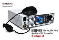 HBR4HF 20W SSB/CW HF Transceiver (80m, 40m, 20m, 15m)