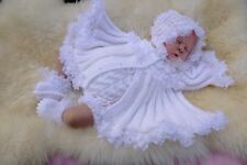 PRINTED PAPER KNITTING PATTERN TO MAKE ****GLORIANA**** FOR BABY OR REBORN DOLLS