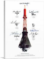 ARTCANVAS NASA Mercury Spacecraft Autographed by Astronauts Canvas Art Print
