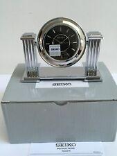 Seiko Desk & Table Clock Contemporary Sophisticated Silver Mirror New In Box