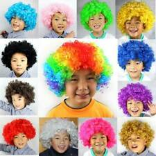 Unisex Short Colorful Curly Afro Clown Soccer Fan Party Cosplay Chic Full Wig l