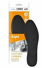Kaps Leather Carbon Black. Boots or shoes insole replacement for man. 43