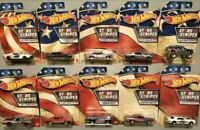 Hot Wheels 2020 Stars And Stripes Complete Set Of 10 - NIP + MOC EXCLUSIVE
