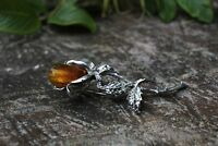 Natural Baltic Amber Brooch Stone Cognac Vintage Fashion Women Party Gift B111