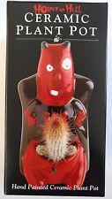 Plant pot Horny as hell Devil Céramique Intérieur Extérieur Jardin cactus plant pot