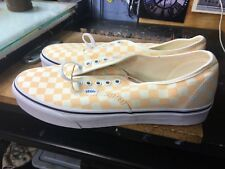 62b567dacc0b52 Vans Authentic (Checkerboard) Apricot Ice White Size US 10.5 Men s  VN0A38EMQ8K