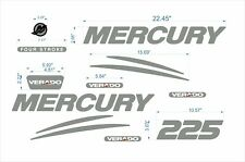 mercury verado 225* sticker chrome + FREE FAST delivery DHL expres- Raised Decal