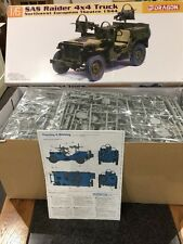 Dragon 1/6 Segunda Guerra Mundial British Sas Raider 4x4 Willys Jeep Truck