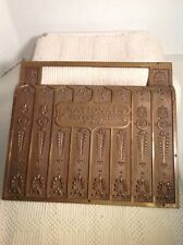 National Cash Register Brass Plate