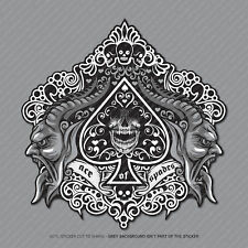 Ace of Spades Calavera Pegatina Calcomanía Laptop PC iPad Patineta Poker-SKU2961